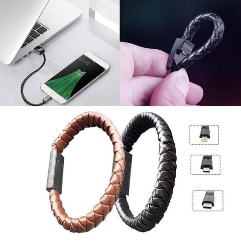 Bracelet data charging cable