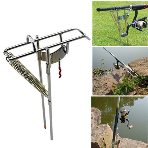 Fishing Assistant - Automatic Stainless Steel Fishing Rod Holder