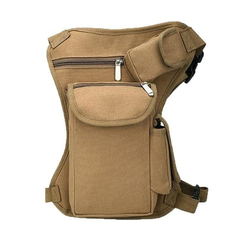 Wellvo Military Waist Bags Men Multifunction Drop Leg Bag Men's Motorcycle Riding Pouch Canvas Molle Belt Travel Pack XA109WC