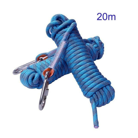 Rock Climbing Rope 10mm Tree Wall Climbing harness Gear Outdoor mountaineering Survival Fire Escape Safety Rope Hike Carabiner