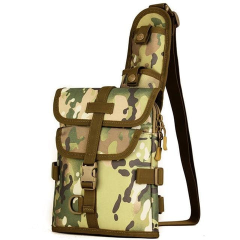 Durable Nylon Fashion Men Shoulder Messenger Cross body Bag Fishing Riding Fashion Sling Chest Day Pack