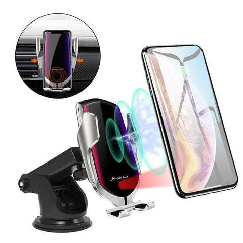 Car Wireless Charger 10W Quick Charge For iphone 11 pro X XR XS MAX Pro Automatic Qi Infrared Sensor Phone Holder