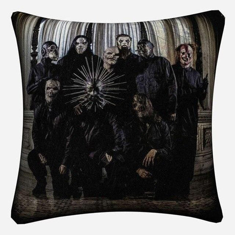 Slipknot Classic Music Figures Decorative Linen Cushion Cover Pillow Case For Sofa 45x45cm Home Decor Throw Pillowcase Almofada