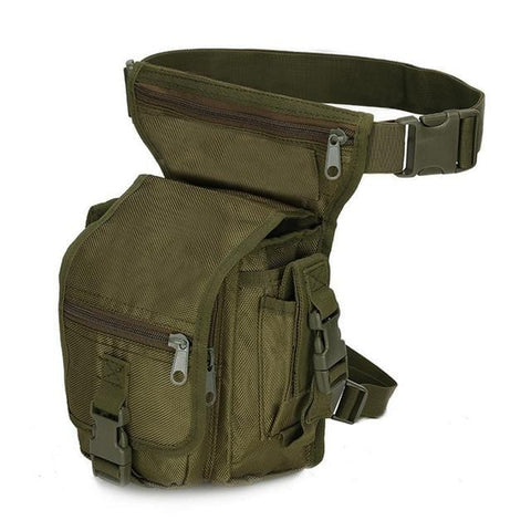 Molle Leg Bag Tactical Waist Pack Leg Drop Bags Hiking Hunting Camping Cycling Waterproof Belt Bag