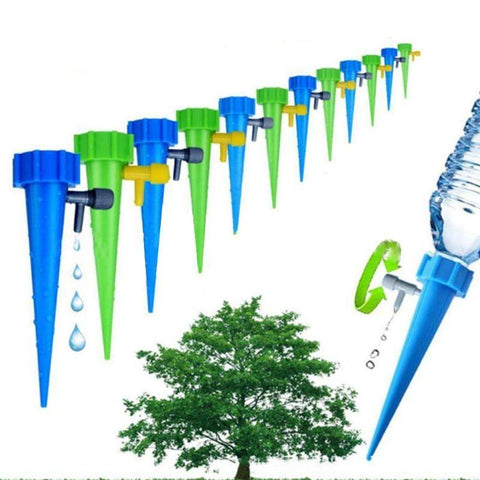 6 Pcs Automatic Watering Irrigation Spike Plant Flower Pot Drip Water Control Drip Cone Spike Waterer Bottle Irrigation System