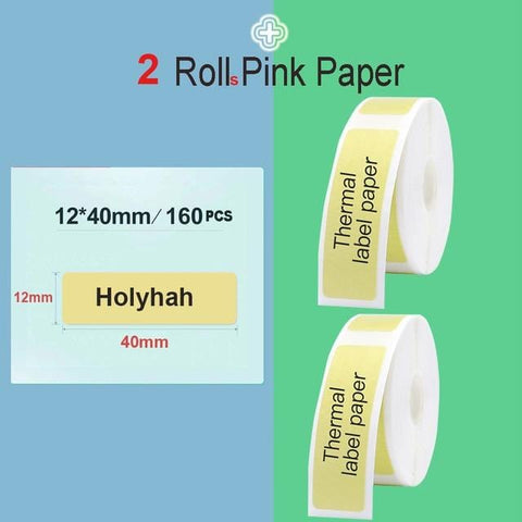 Niimbot Mini Label printer paper Printing Label Waterproof Anti-Oil Price Label Pure Color Scratch-Resistant Label Sticker Paper