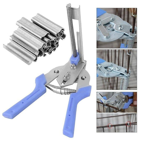 Ring Pliers + Hog Rings M Nails Poultry Cage Installation Tools Fences Netting Tags Traps Cage