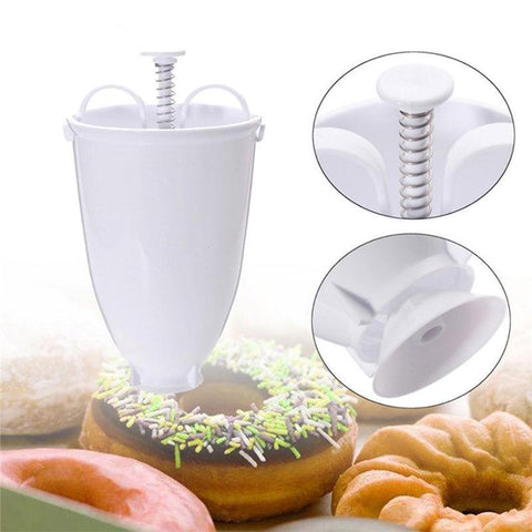 Plastic Donut Maker Lightweight Arabic Waffle Mould Dispenser Deep Fry Doughnut Machine Bakeware Baking Tool Kitchen Gadgets