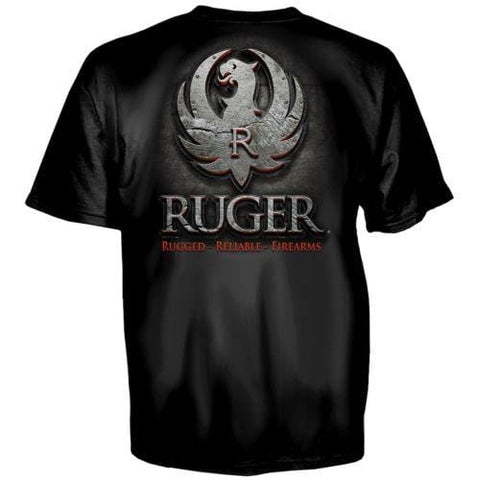 RUGER FIREARMS METAL T shirt Men STURM RUGER & CO American Heather Gray Firearms casual gift tee USA Size S-3XL