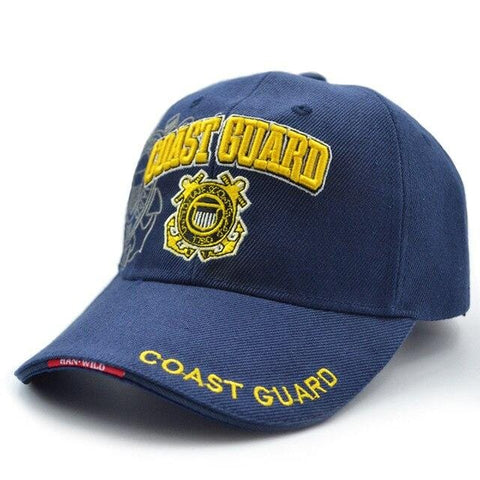 COAST GUARD Cap for Fishing, Chapeu masculino pesca, Men Outdoor Sports Hat, Summer Fishing Cap, Adjustable size