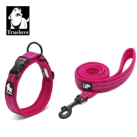 Truelove Easy On Pet Dog Collar And Leash Set Nylon Adjustabele Collar Dog Training Leash Reflective Pet Supplies Dropshipping