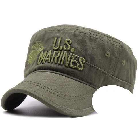 United States US Marines Corps Cap Hat USMC Camouflage flat top hat Men cotton hat USA Navy Embroidered hats cap