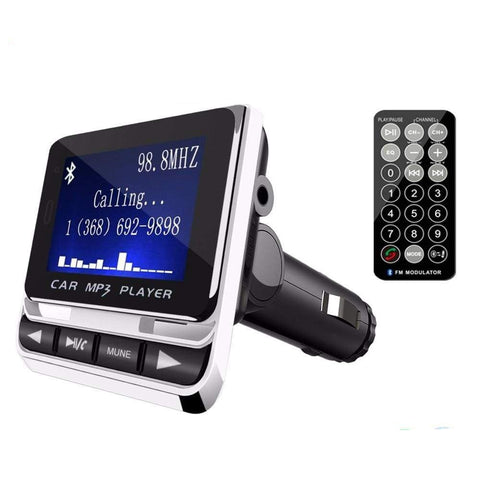 Wireless Bluetooth FM Transmitter Handsfree Car MP3 Player  LCD Screen Car Kit USB Charger Support TF Line-in AUX