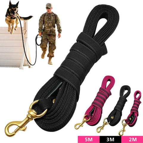 Long Dog Leash Nylon Non-slip Dog Tracking Lead Leash For Medium Large Dogs Walking Training 2m 3m 5m