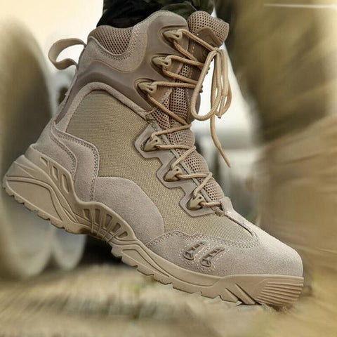 Tactical Military Soldier Boots For Men Climbing Trekking Hunting Walking Mountain Camo Sneakers Man Hiking Shoes Outdoor