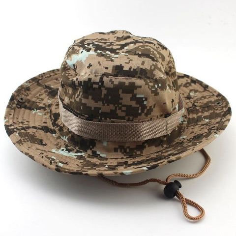 Military Camouflage Boonie Hat High Quality Outdoor Bucket Hats Hunting Hiking Fishing Climbing ARMY MULTICAM HAT 26 Colors A3F2