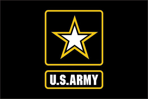 Flag 4` x 6` FT 100D Polyester Black Large American United States USA US Military Army Flags and Banners