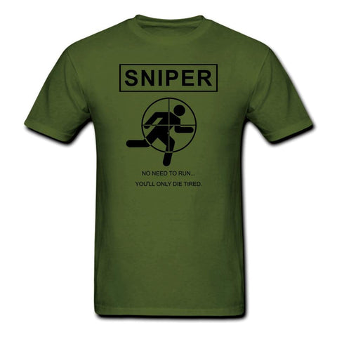 Military Sniper Die Tired T shirt Men US Marines SAS Army USMC casual army tee USA Size S-3XL