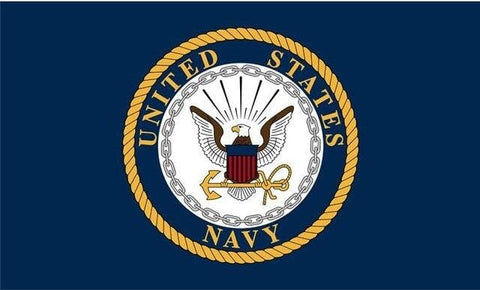 Flag  90*150cm   U.S. Navy USN Logo Eagle Anchor Blue  Poly Polyester Large Logo Flag  Bannene