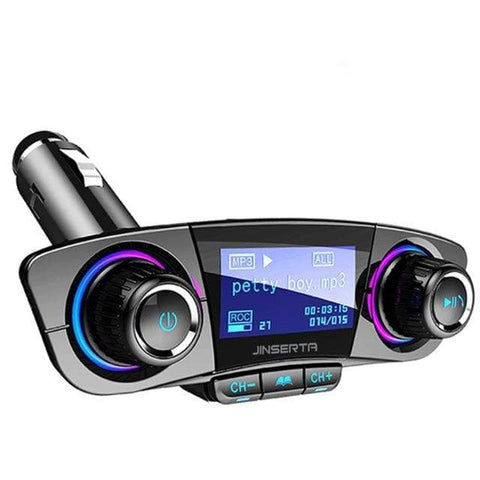 Wireless Bluetooth Car MP3 Player FM Transmitter AUX Audio Receiver TF USB flash music players Dual USB Charger