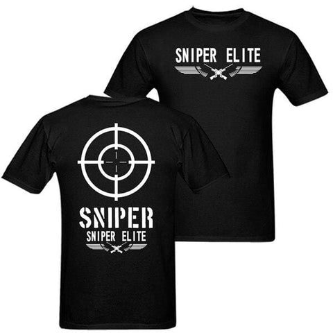 Sniper T shirt men Army Military Sniper elite casual gift tee USA Size S-3XL