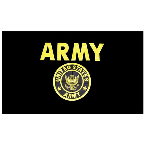 Flag  3x5 feet  US Army flag  Seal Crest Black and Gold Flag    US Army Gold Crest Flag