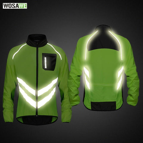 High visibility Reflective jacket Motorcycle Men's Windbreakers Light Weight Safety Motocross Mountain Bike Jacket