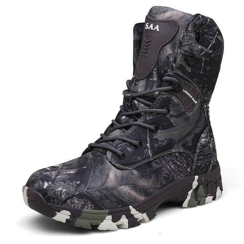 Tactical Boots Men Army Boots Men's Military High Camouflage Breathable Hiking Shoes Climbing Ankle Men Outdoor Hunting Boots