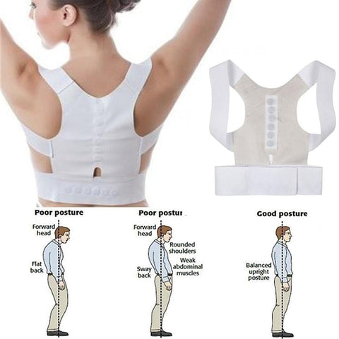 Corset Back Correction Magnetic Posture Corrector Straight Shoulder Brace Lumbar Support Pain Relief for Child Adult Unisex