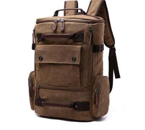 Men Backpack 15.6'' 17'' Laptop Backpacking Canvas Backpacks Outdoor Travel Large Capacity Luggage Bagpack Male School Bag Pack