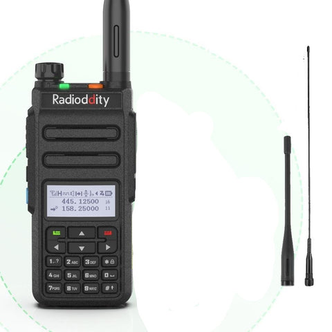GD-77 Dual Band Dual Time Slot DMR Digital Analog Two Way Radio 136-174 /400-470MHz 1024 Channels Ham Walkie Talkie