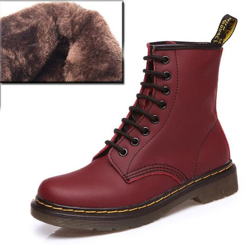2019 Boots Women Genuine Leather Shoes For Woman Casual Spring Genuine Leather Botas Mujer Female Ankle Boots