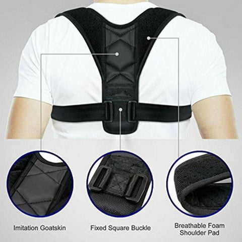 Adjustable Back Posture Corrector Clavicle Spine Back Shoulder Lumbar Brace Support Belt Posture Corrector Prevents Slouching