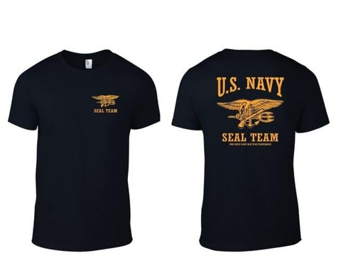U.S. NAVY SEAL TEAM T-Shirt  Only Easy Day Was Yesterday B/Y T-SHIRT Printed T Shirts Short Sleeve Hipster Tee Plus Size
