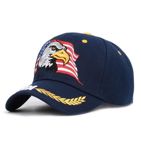 Men's Animal Farm Snap Back Trucker Hat Patriotic American Eagle and American Flag Baseball Cap USA 3D Embroidery