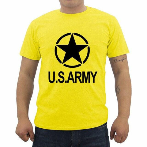 Men Short Sleeve Cotton T-shirt Green Olive Military USA Army Soldier Print T Shirt Male Casual Tees Top Streetwear