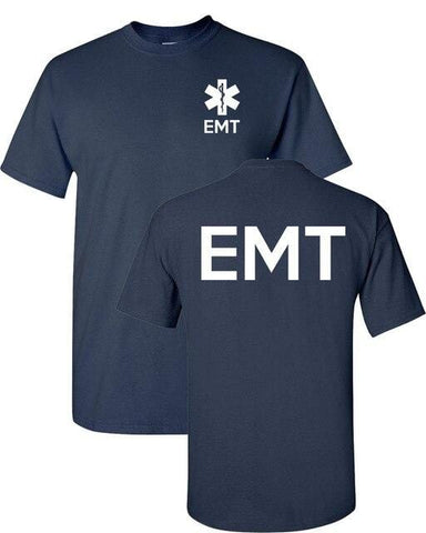 Fashion s T Shirt Cotton Short Sleeve Emt Paramedic Emergency Medical Services Front & Back Mes High Quality Tees