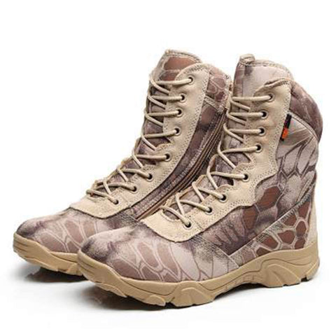 Men Tactical Shoes Military Desert Combat Boot Army Shoes Breathable Hiking Sport Hunting Shoes Work Shoes Snakes Ankle Boots