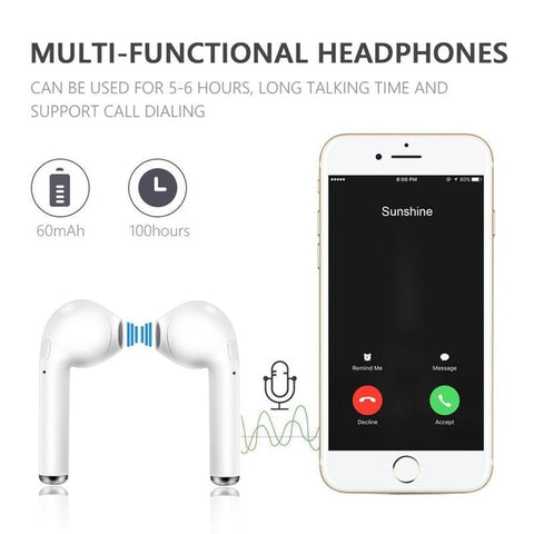 TWS Bluetooth I7 sports headphones