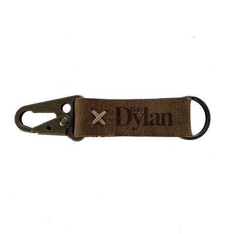 Bob Dylan Leather Keyring