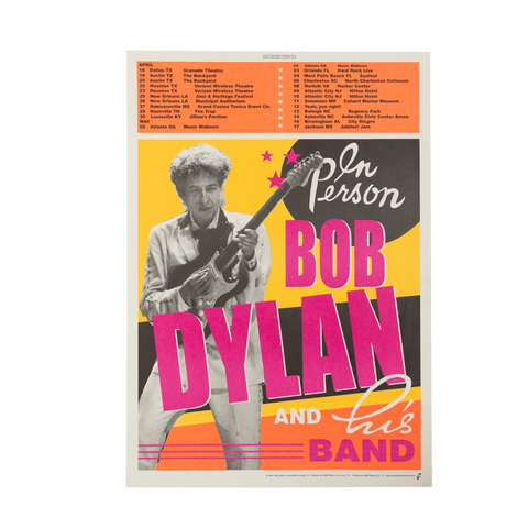 Bob Dylan April/May Tour Poster (Matte)