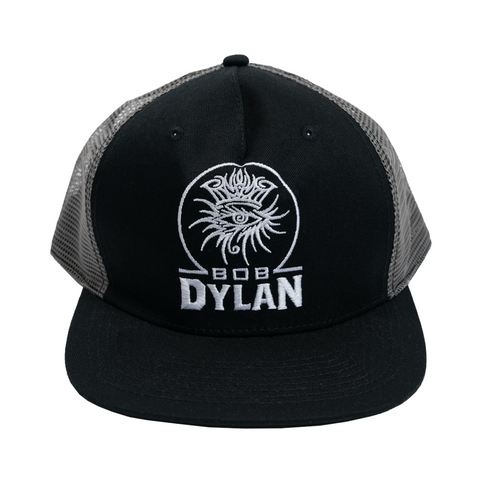 Eye Embroidery Black/Grey Mesh Cap