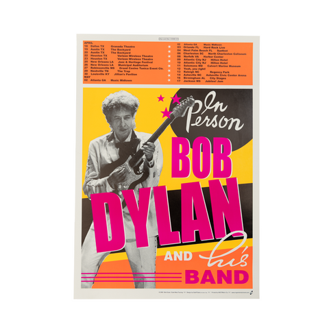 Bob Dylan April/May Tour Poster (Glossy)