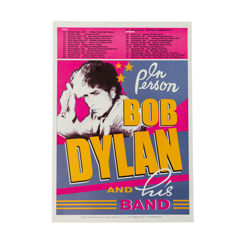 Bob Dylan July/August Tour Poster