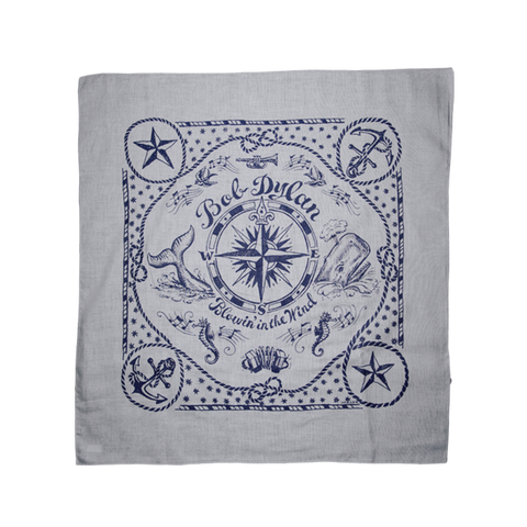 Grey Nautical Bandana