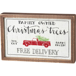 Family Owned Christmas Trees Sign
