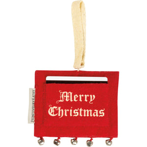 Ornament Gift Card Holder- Merry Christmas
