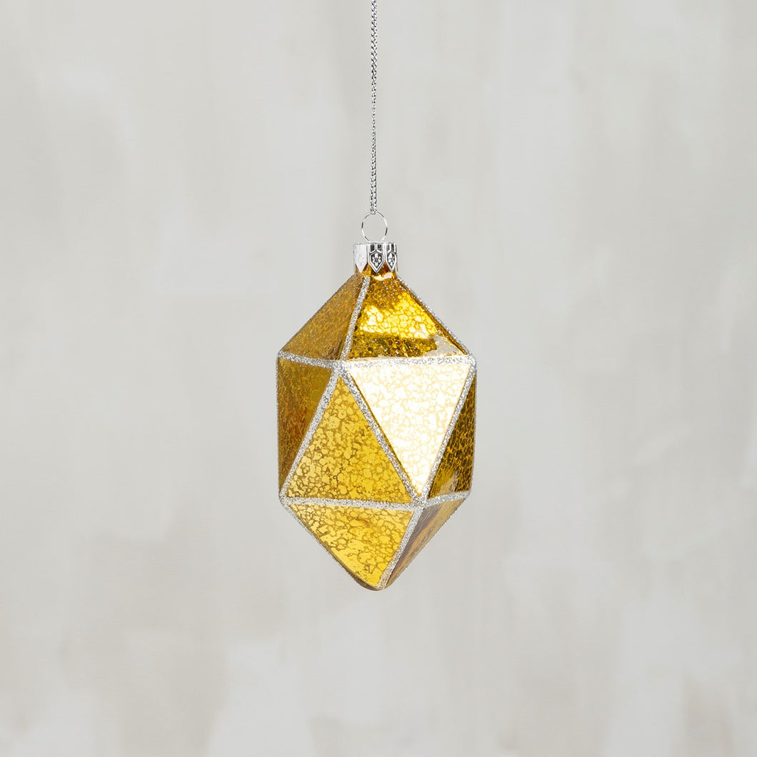 Glass Ornament - Sheer Gold