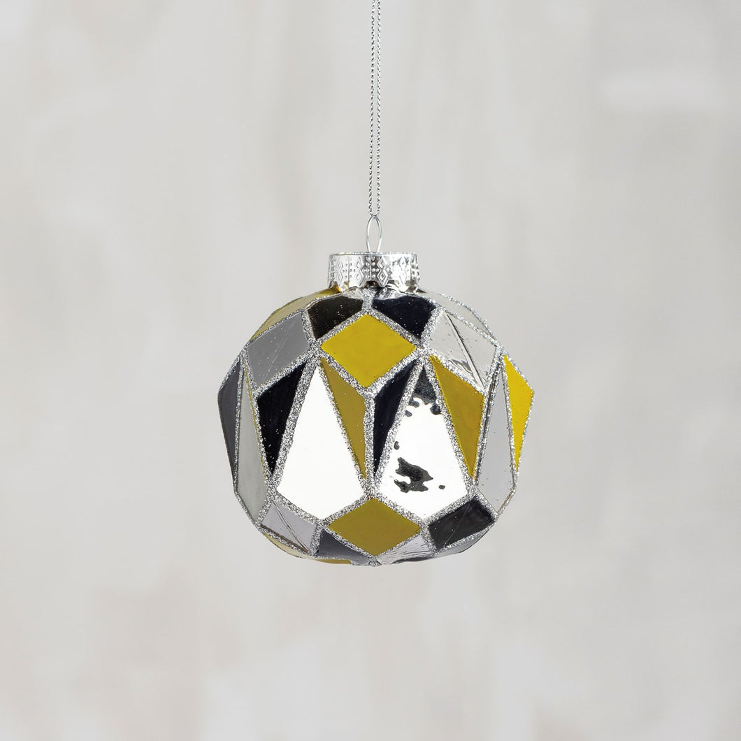 Glass Ornament - Mirror Gold