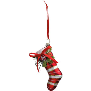 Glass Ornament - Stocking